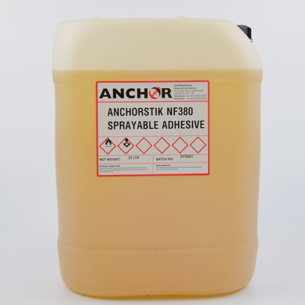 Anchorstik NF380 Non Flammable Sprayable Contact Adhesive 20 Litres