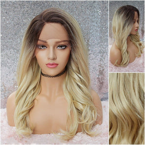 Blonde Lace Front Wig,Blonde Wavy Wig, Large Lace for natural parting of your choice, heat resistant, cosplay,