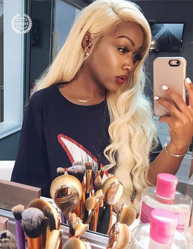 Blonde Lace Front Wigs Remy Brazilian Straight Hair Lace Front Human Hair Wigs 13x4 Pre Plucked With Baby Hair