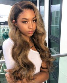 Lace front wig brown wig bs126 wig blonde