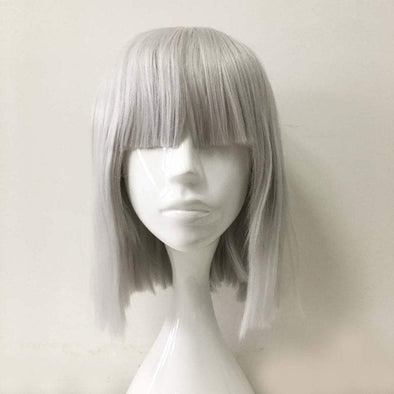 Gray Bob Wigs With Lace Front