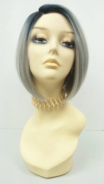 Short Gray Wigs With Lace Front