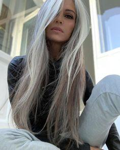 Heather Grey Wig With Lace Front