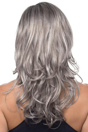 Long Gray Curly Wig With Lace Front