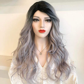 Grey Hair Wig With Lace Front