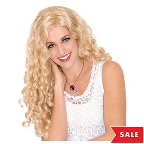 Blonde long curly cosplays Peluca headwear for Woman Christmas Purim Nightclub Bar party dress