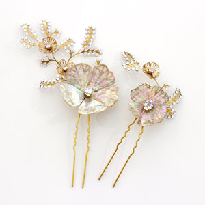 Abalone Flower Pins