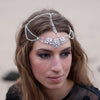 Swarovski crystal pearl wedding hair accessory tiara headdress designer Glasgow bridal