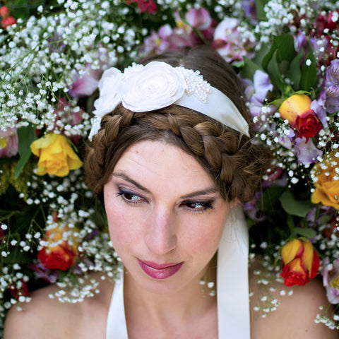 Floral Sash Headdress