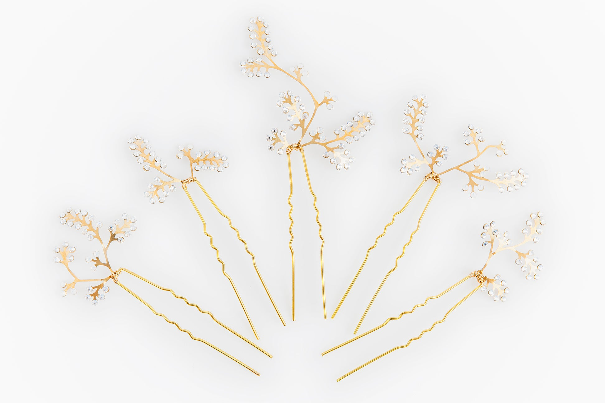 Wisteria Hairpins (set of 5)
