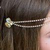Swarovski crystal gold wedding hair accessory brow band designer Glasgow bridal