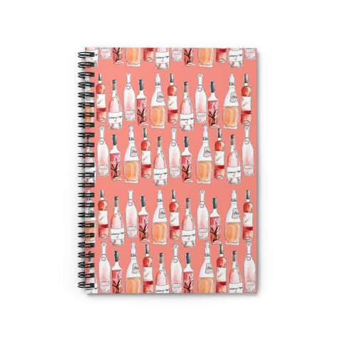 Rosé Day Spiral Notebook - Ruled Line