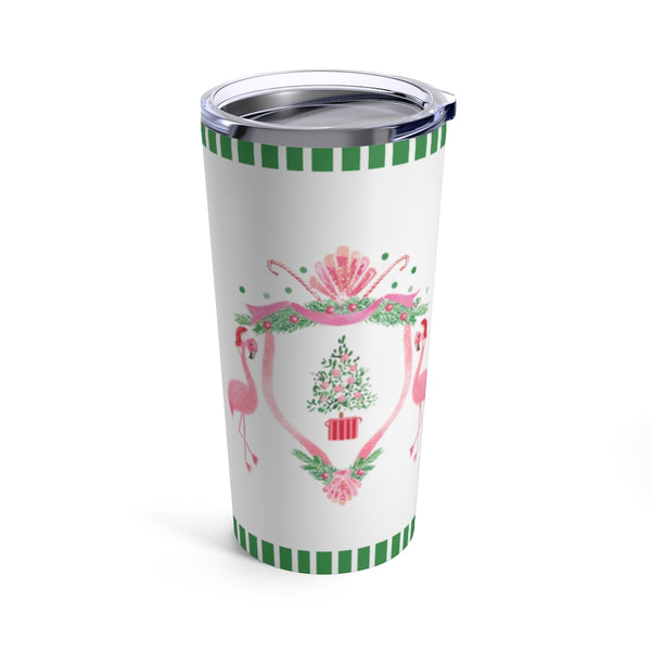 Ho, Ho, Flamingo Tumbler 20oz