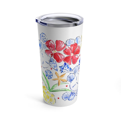 Red White and Bloom Tumbler 20oz