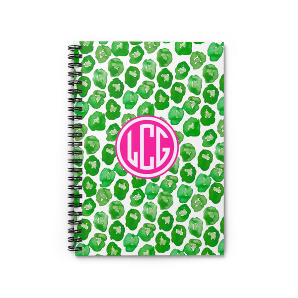 Leaping Leopard Spiral Notebook - Ruled Line