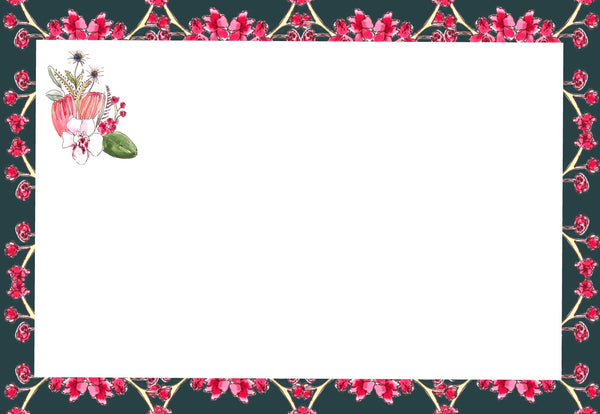 Floral Greetings Flat Note Cards