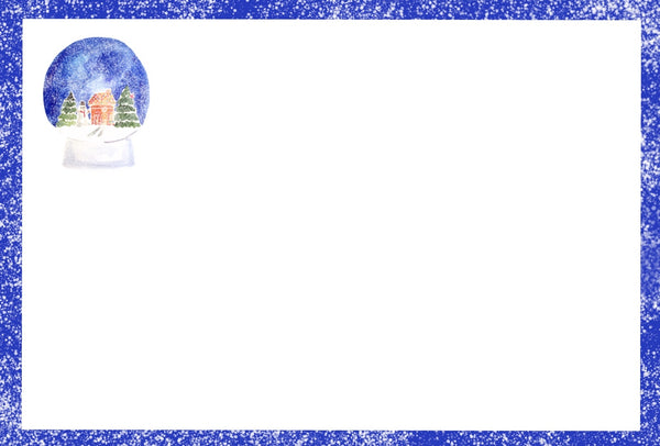 Snow globe note cards