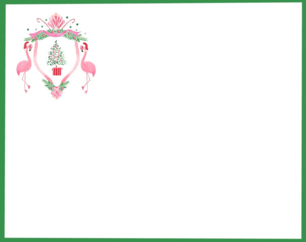 Ho, Ho Flamingo Flat Note Cards