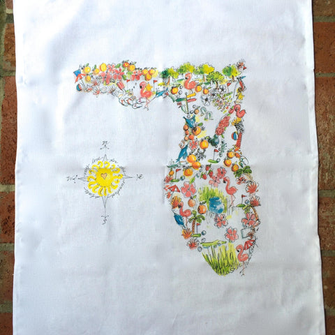 Florida Favorites Tea Towel