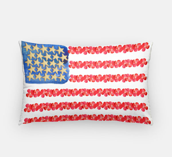Starfish and stripes Forever Pillow