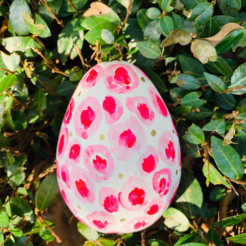 hot Pink Cheetah Egg