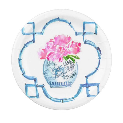 Peonies Please-paper plate