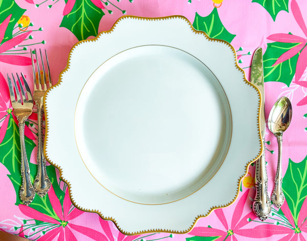 Poinsettia Pink Paper Placemats
