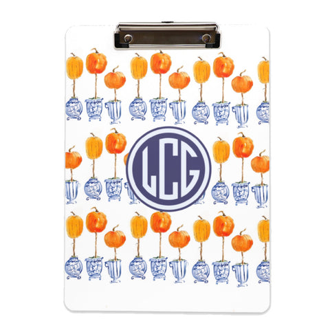 When Blue and White and Met the Pumpkin Patch clipboard