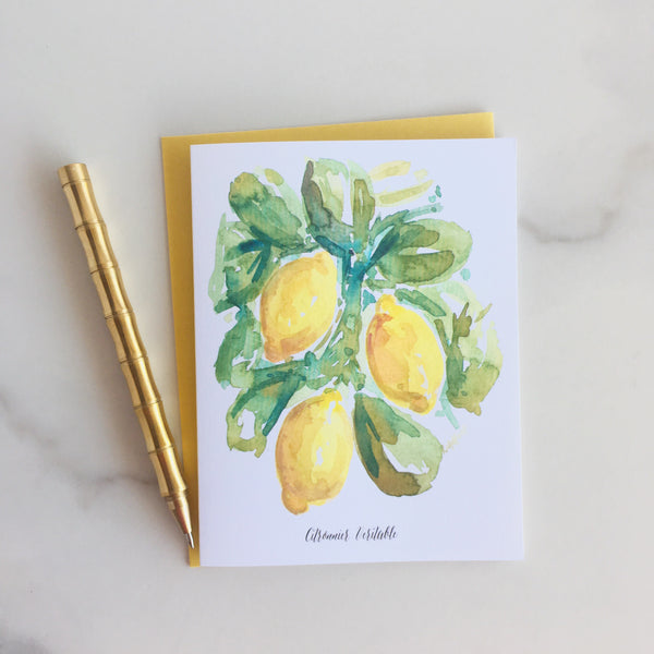 Citron Note Cards