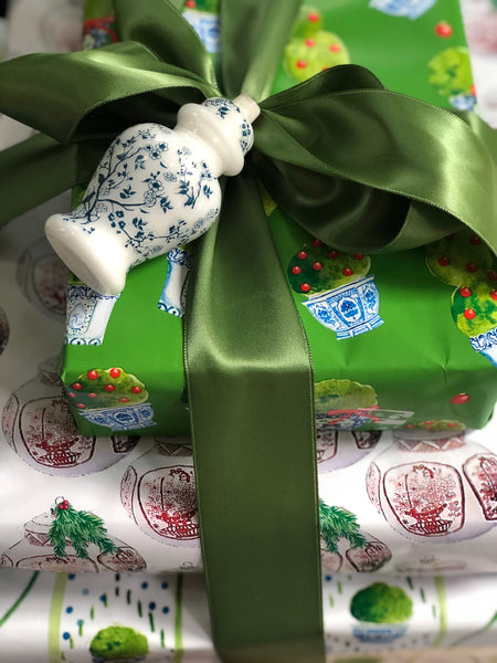 New! Topiary Trellis reversible wrapping paper