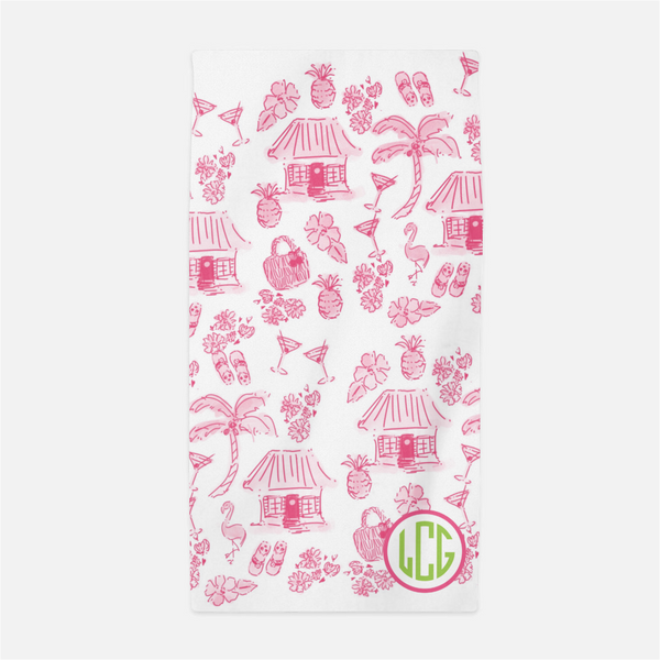 Tahiti Punch beach towel