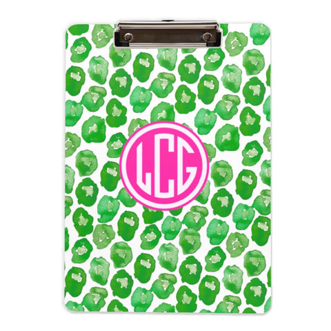 Leaping Leopard-green Clipboard