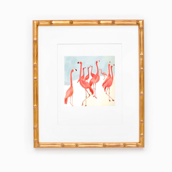 Waltzing Flamingos Print