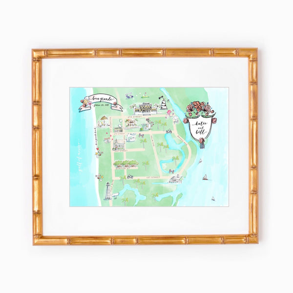 Boca Grande, Florida wedding map