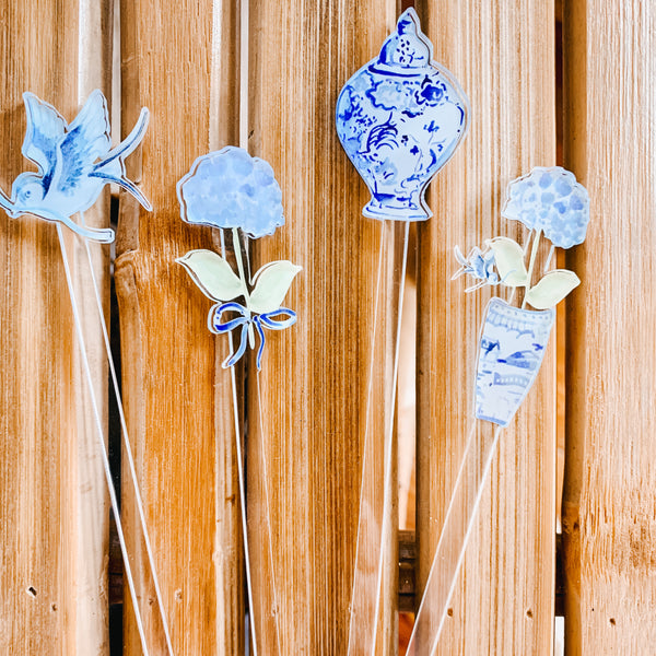 Happy Hydrangea stir sticks
