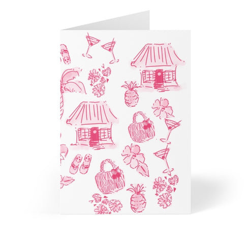 Tahiti Punch Note Cards