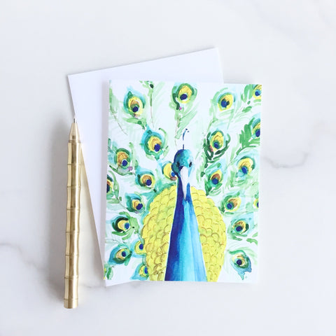 Palmer Peacock Note Cards