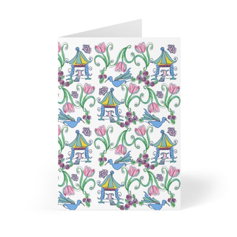 Rainbow Pagoda Note Cards