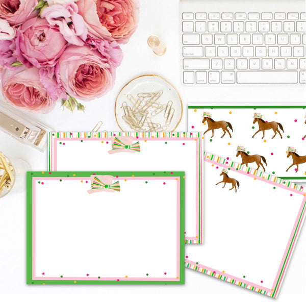 Derby Dots notecards