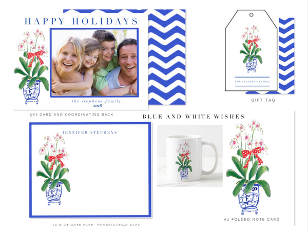 Blue and White Wishes Collection, Mug