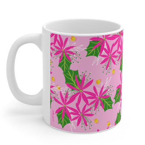 Poinsettia Pop mug