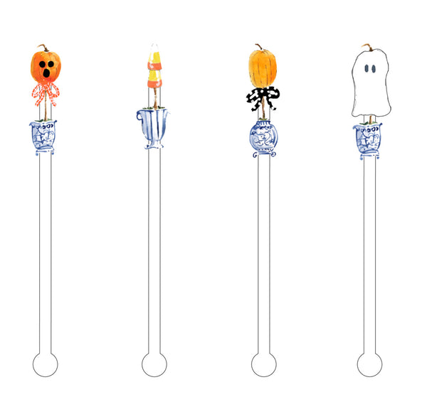 Trick or Treat drink stir sticks