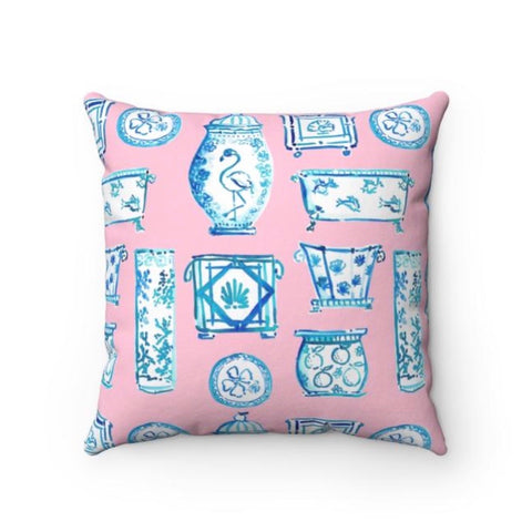 When Blue and White Met the Tropics pillow