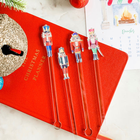 Nutcracker Love swizzle sticks