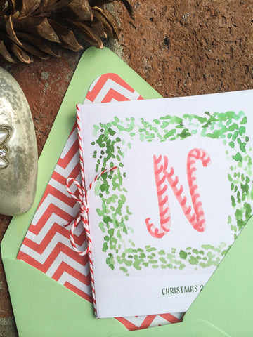 Candy Cane Note Cards
