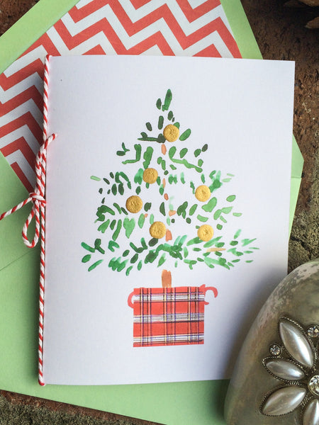 Little Merry Plaid Note Cards