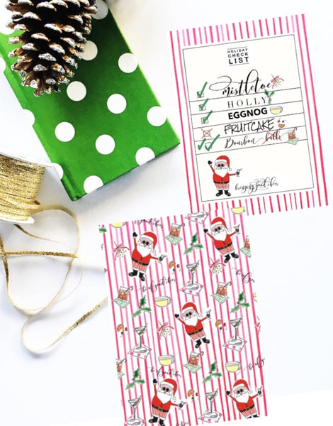 Santa Toss notecards-set of 8
