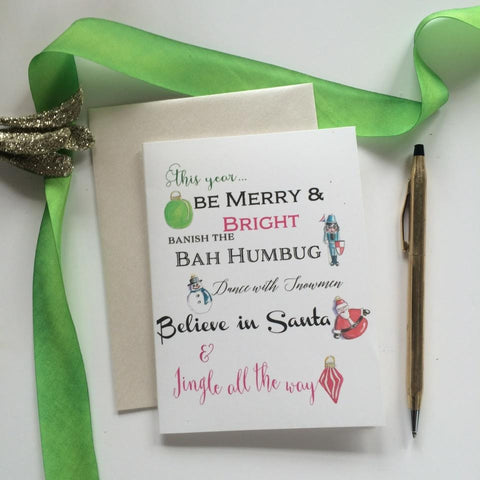 Banish the Bah Humbug Cards