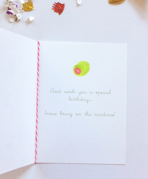 Olive You Birthday Card