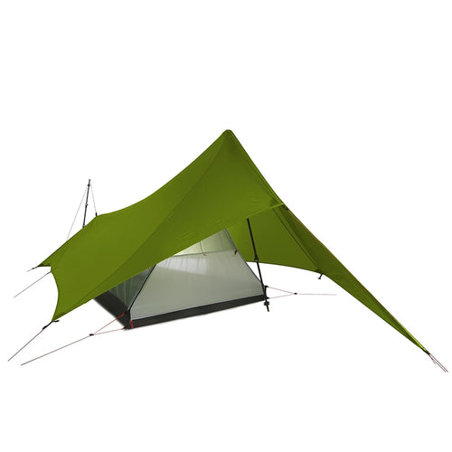 FLAME'S CREED XUNSHANG Outdoor Ultralight Camping Tent 1 Person 3 Season  20D Silnylon Rodless Multifunction TentRain Fly Tarp